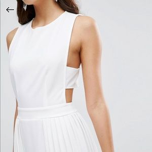 Asos White Cut-out Maxi Dress
